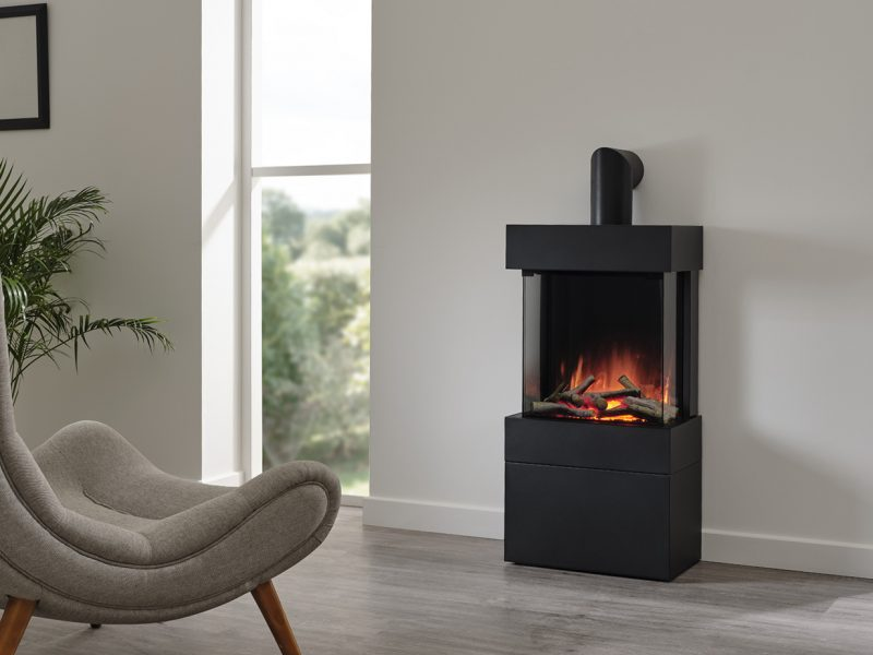 Luca 450 freestanding with log box