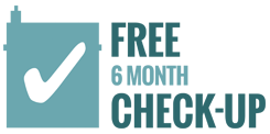 Free 6 month check up logo