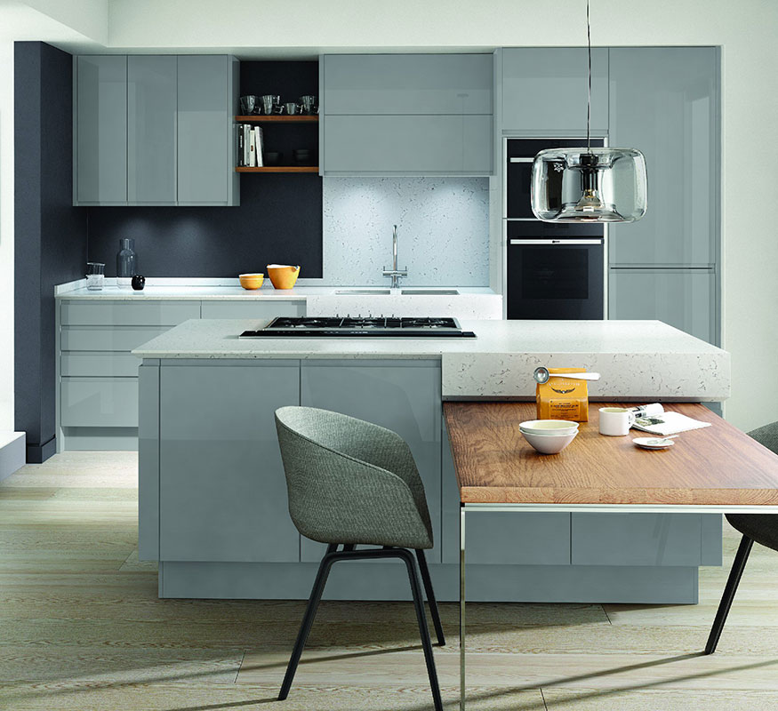 Remo Silver Grey Handleless