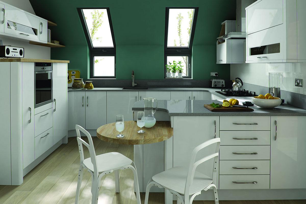 Kitchen Porter White Gloss