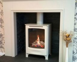 Fireplace installed by Helmanis & Howell
