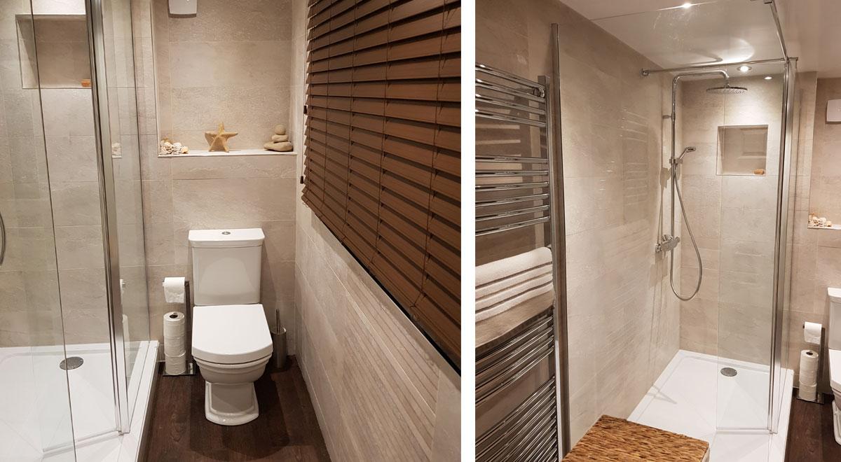 Bathroom installed by Helmanis & Howell