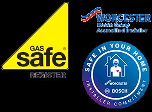 Gas Safe + Worcester Bosch accredited
